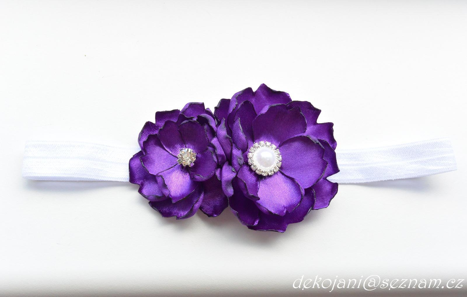 Fialový svatební podvazek - Obrázek č. 4