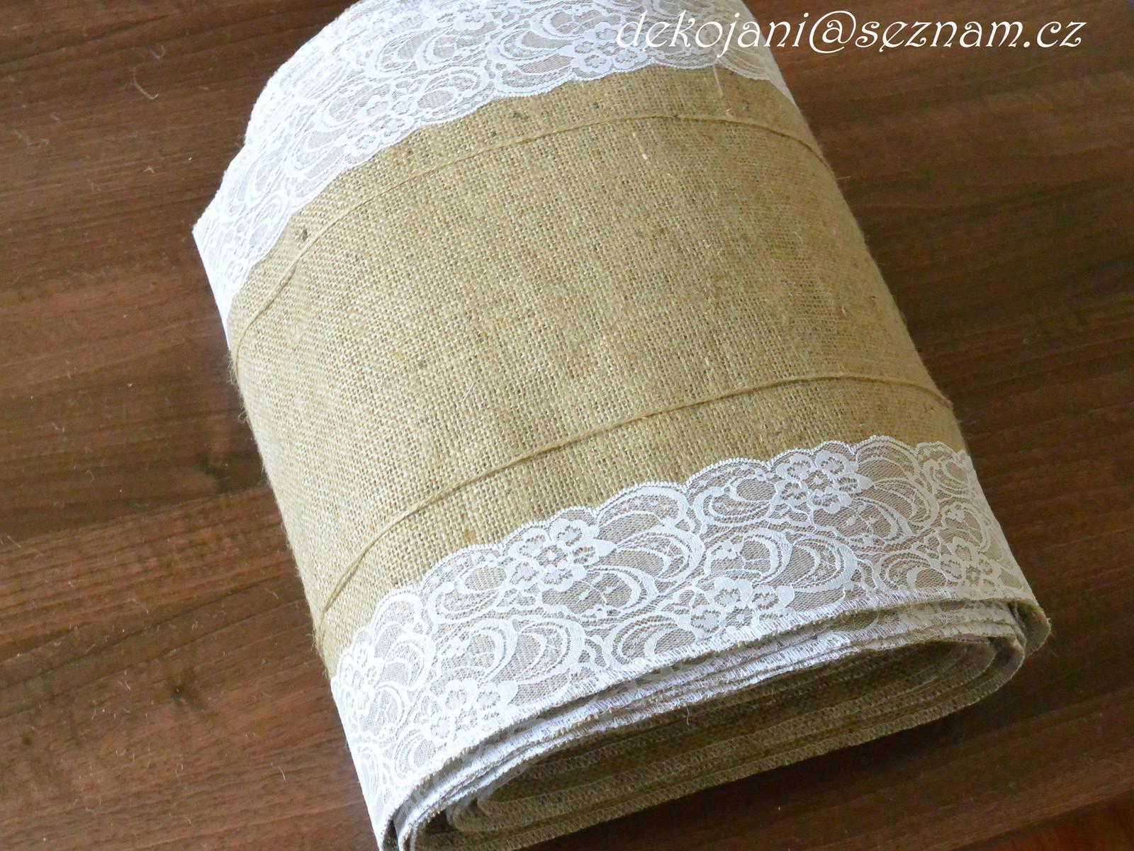 Rustikální svatební ubrus š.35cm - Obrázek č. 1