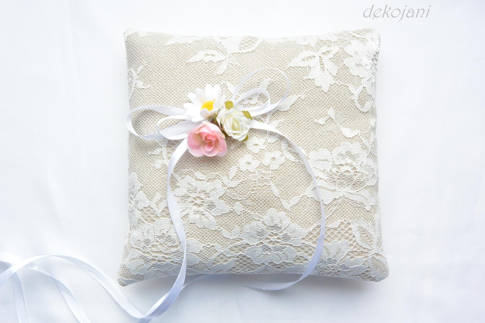 Rustikální svatební polštářek - Obrázek č. 1