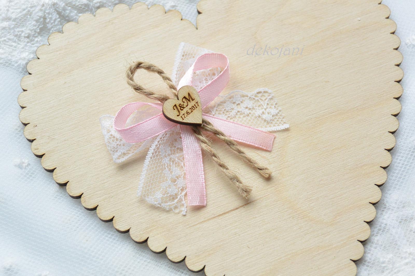 Svatební jutový polštářek - Obrázek č. 3