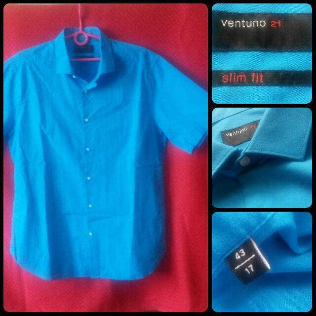 Modrá košeľa Ventuno 21 - Obrázok č. 1
