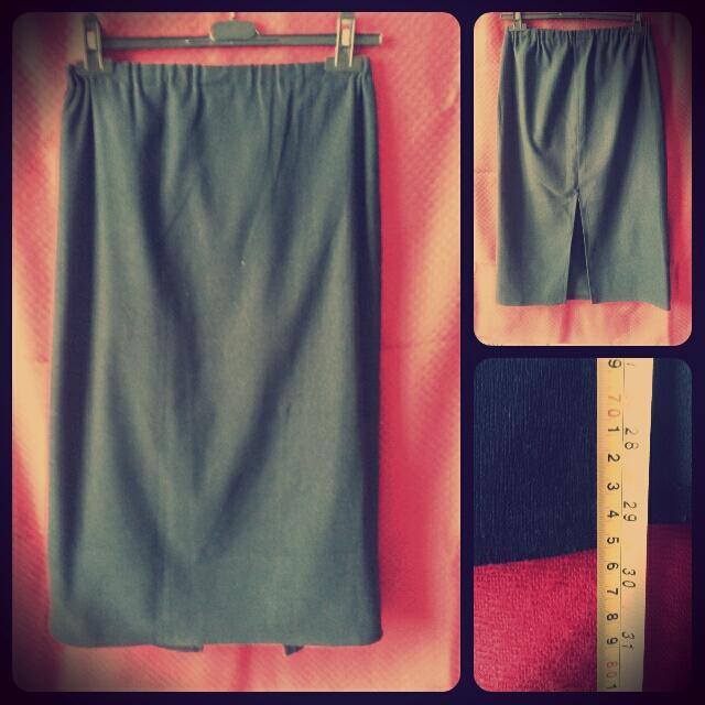 Dámska tmavomodrá sukňa - Obrázok č. 1