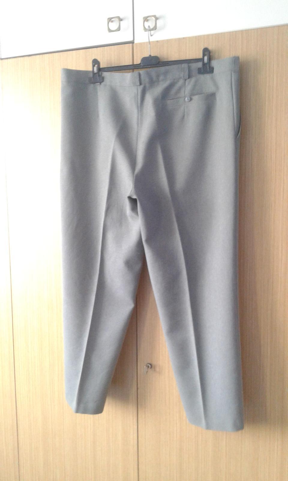 Pánske šedé oblekové nohavice - Obrázok č. 3