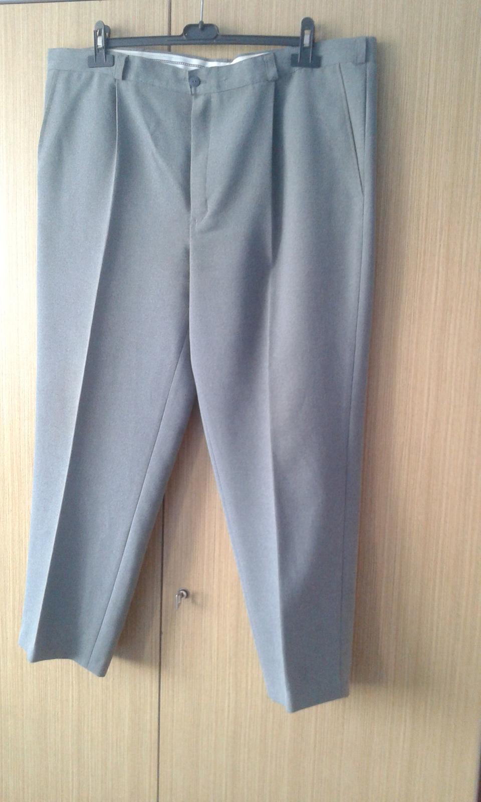 Pánske šedé oblekové nohavice - Obrázok č. 1