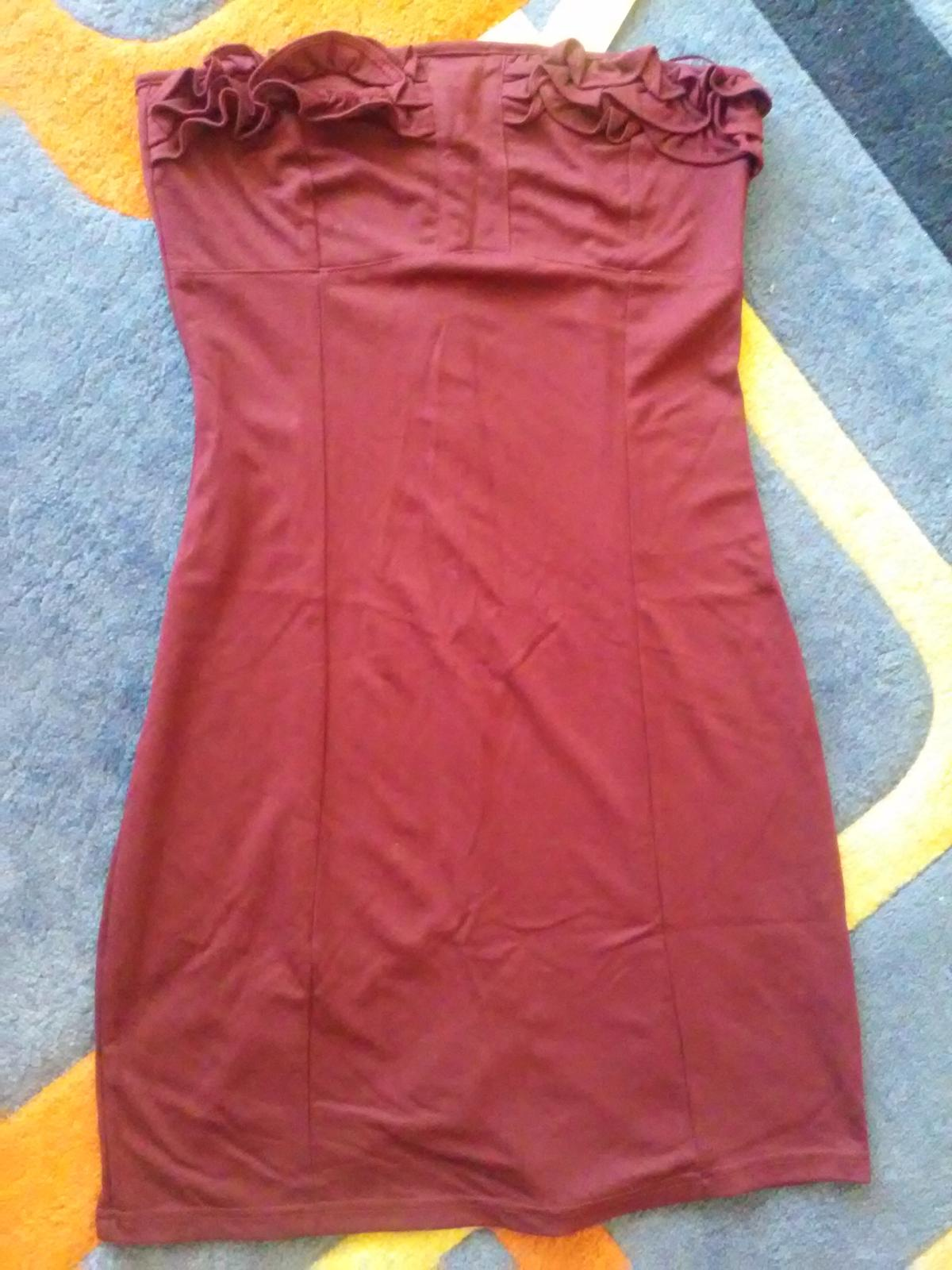 Bordové nenosené šaty - Obrázok č. 1