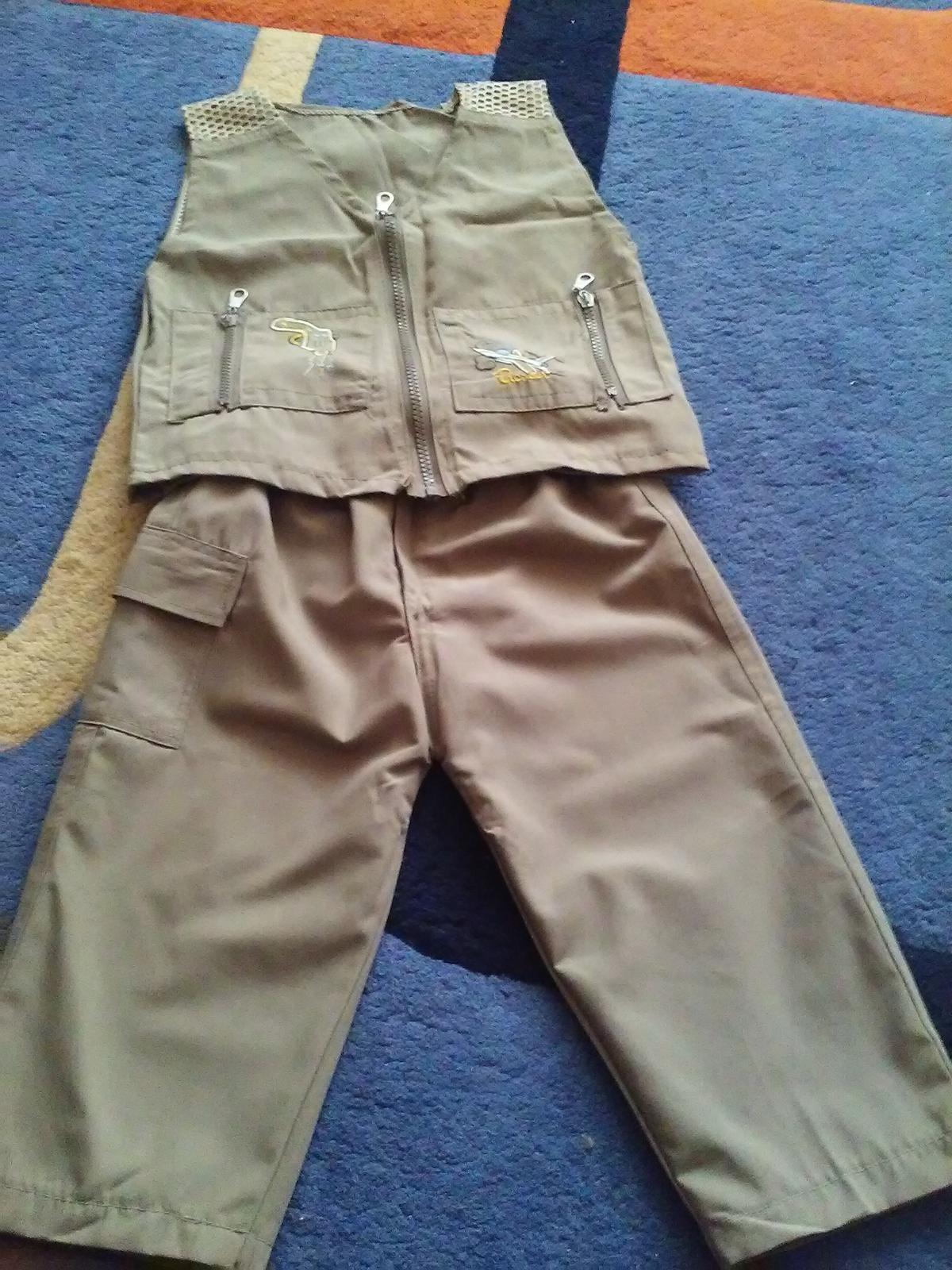 Súprava nohavice + vestička - Obrázok č. 1