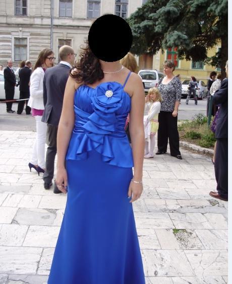 Dlhe spolocenske saty- kralovska modra - Obrázok č. 2