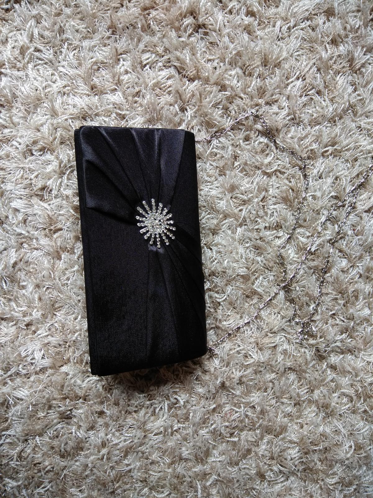 Cierna spolocenska kabelka - Obrázok č. 1