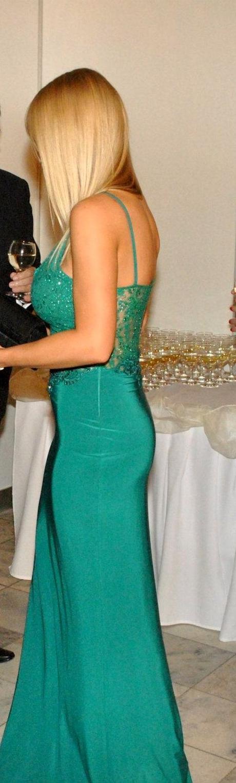 Spoločenské šaty smaragdové - Obrázok č. 1