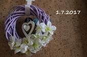 Svatební dekorace na dveře srdce,