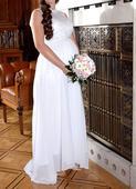 svatební šaty i pro těhotnou, 38