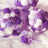 Nevěstin sen ( svatební kytice s brožemi,velká),