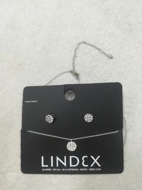Set náušnice a řetízek a přívěškem, bižu, Lindex - Obrázek č. 1