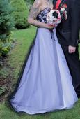 Čierno-biele svadobné (plesové) šaty, 39