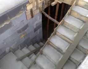 schody sme zalievali spolu so stropom
