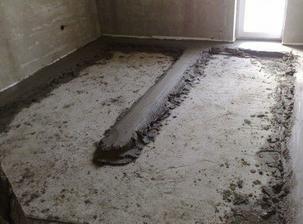 budúca spálňa, tiež už je zaliata