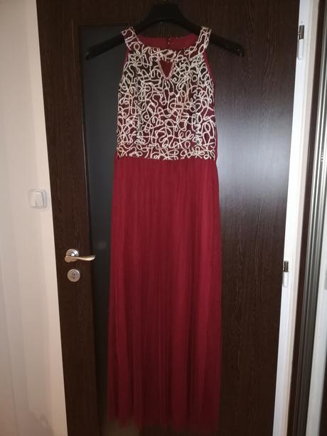 Červene dlhé spoločenské šaty - Obrázok č. 1
