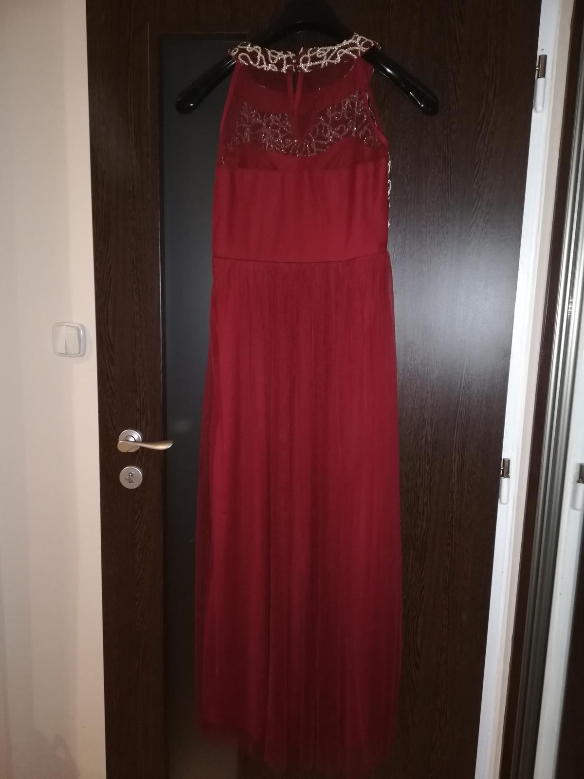 Červene dlhé spoločenské šaty - Obrázok č. 3