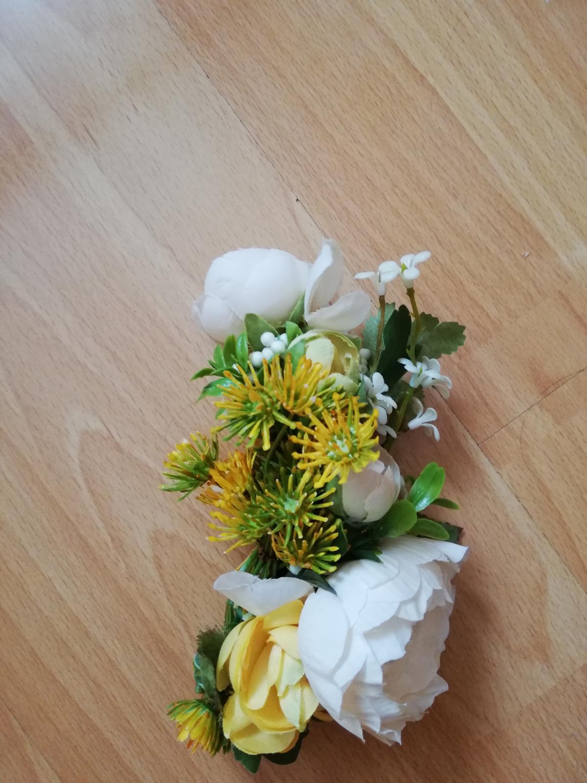 Kvetinova ozdoba do vlasov pivonky - Obrázok č. 3