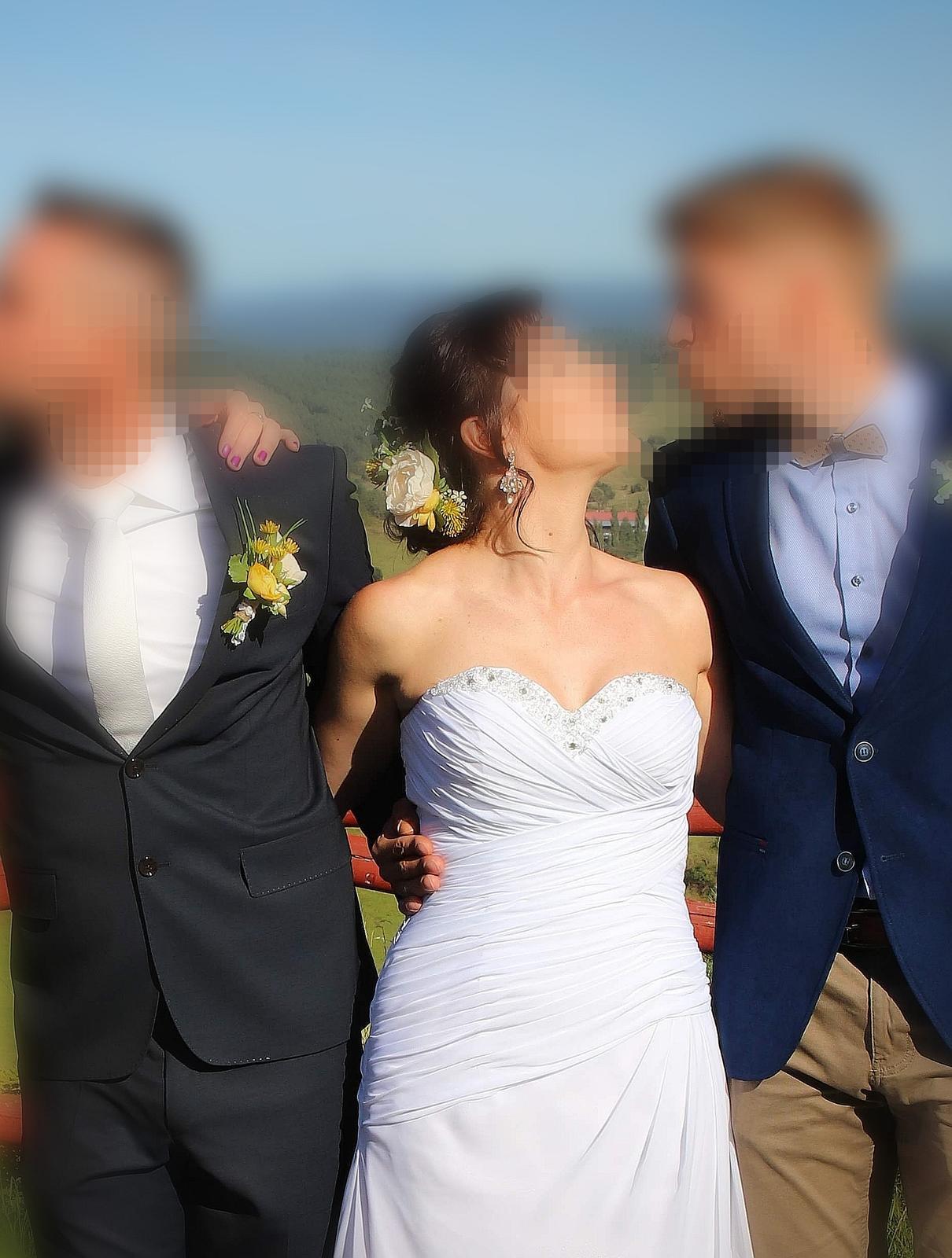 Svadobné šaty, korzetove, biele, 36-38 - Obrázok č. 1