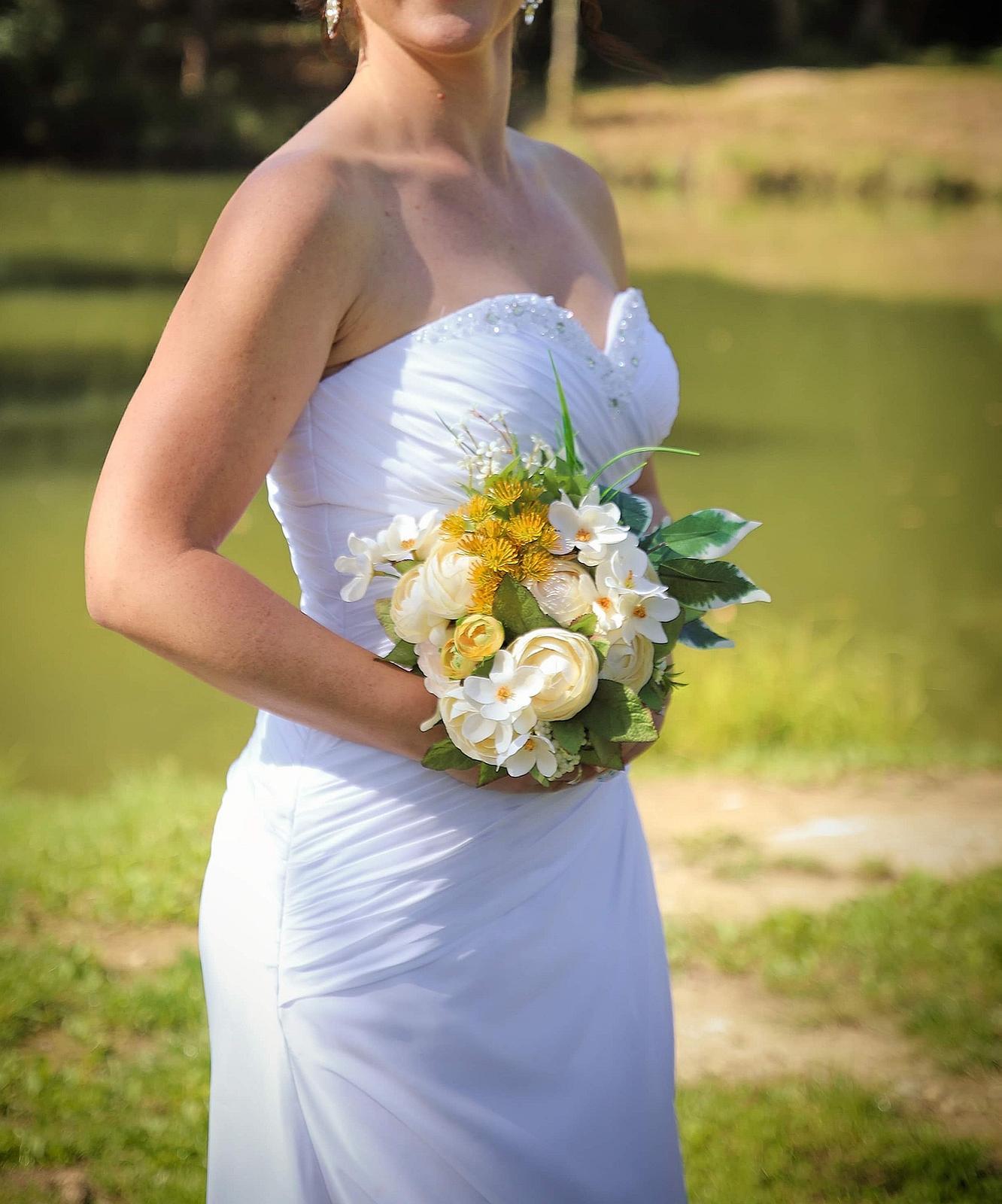Svadobné šaty, korzetove, biele, 36-38 - Obrázok č. 2