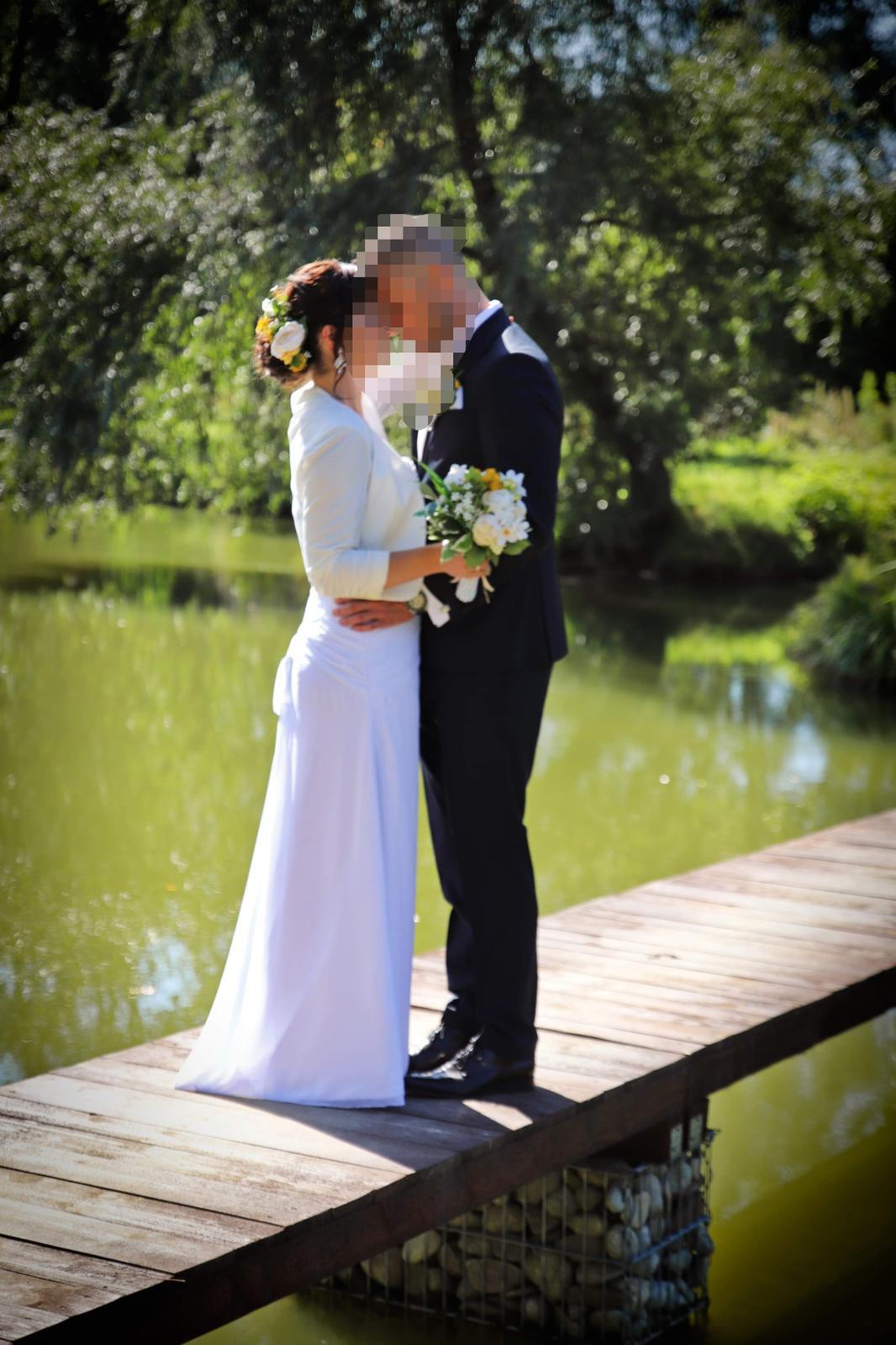 Svadobné šaty, korzetove, biele, 36-38 - Obrázok č. 3