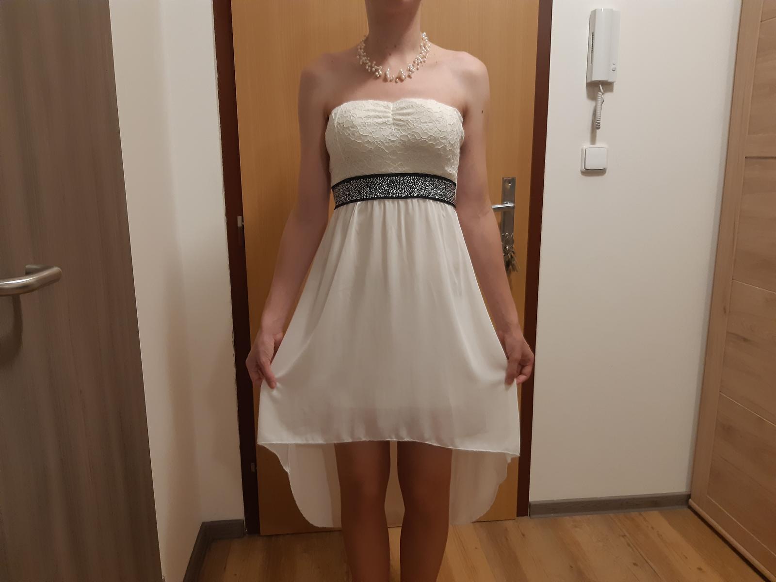 Svatební/Popůlnoční šaty s nárhdelníkem z pravých říčních perel - Obrázek č. 1