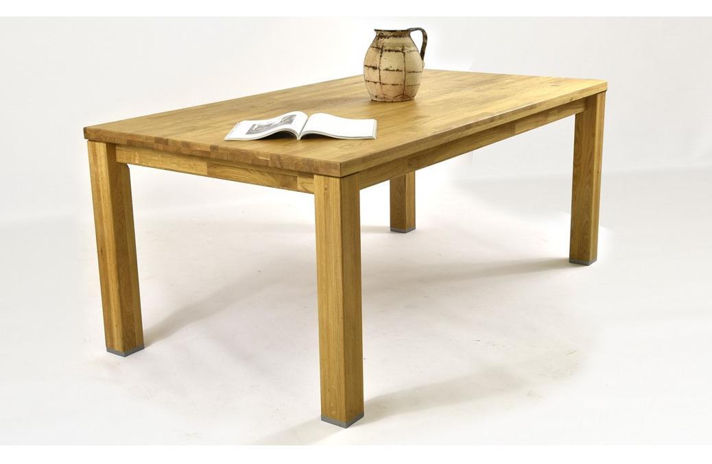 """Holky tak mám hotovou kuchyň  a přichází čas vybrat jídelní stůl. Mám jasno, že bude dub jako všechno ostatní, manžel nechce kovové podnoží, nohy nic. Židle vybrali kluci - tyrkysové u Nábytek Mirek, proto tyrkysová kuchyň :). Tak jsem udělala rychlý předvýběr opět u Mirka a mě se nejvíc líbí stůl co mají """"s našema"""" židlema. Ale je zaoblený a já mám všechny desky, poličky a tak prostě klasicky s ostrými rohy. Nebude se to stlouct? Jídelna je proti ostrůvku. Manžel by preferoval ten druhý """"klasický"""" typ, tam bych mohla hledat i jinde, tak já nevím... - Obrázek č. 1"""