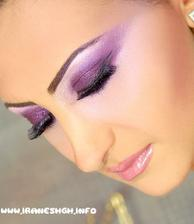 fialovy make up :)