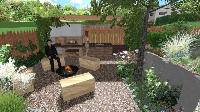 Začínáme se zahradou - Ohniste s venkovni kuchyni