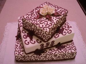 ...torta sa hodí aj farebne...