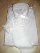 košile pro ženicha a punčošky pro nevěstu