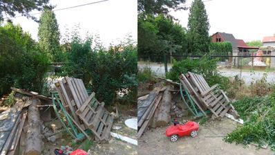 Živý plot bohužel překážel stavbě neživého