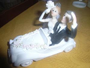 Figurka na dort - samozřejmě s autem :-)
