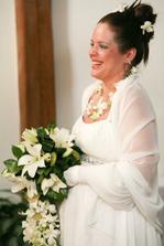 Nevěsta při řeči oddávajícího - foto Martin Rabovský