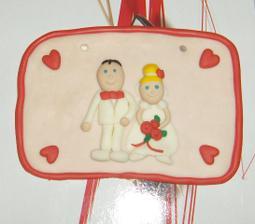 Tabuľky novomanželov....veľmi peknučké. Za to ďakujem Lucke.