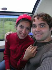 tesne po zasnubeni...cesta vlakom na Aliaske...to bola ina romantika