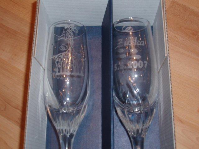 Zuzka a Lubino - naše poháre ktoré sme si navrhli