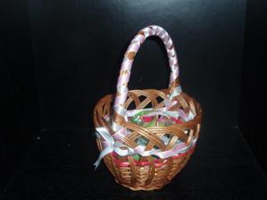 košíček na cukríky pre gratulantov