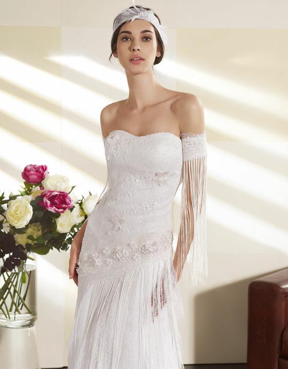 Svatební šaty Villais Espaňa - model Orfeon detail