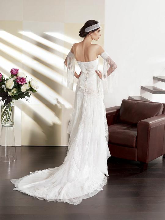 Svatební šaty Villais Espaňa - model Orfeon pohled zezadu
