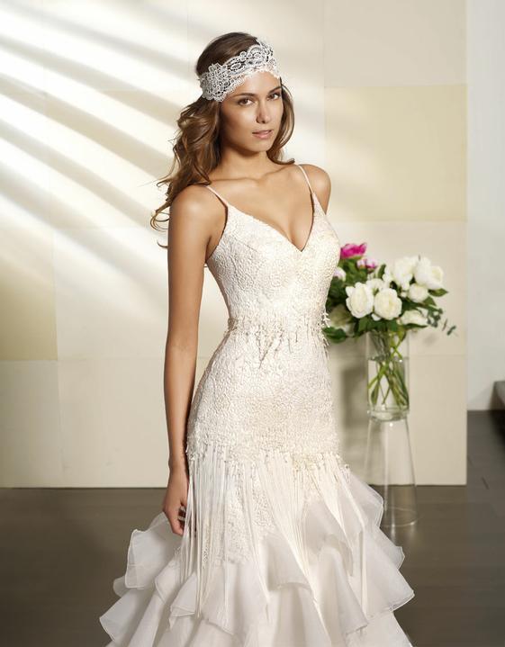 Svatební šaty Villais Espaňa - model Paris detail