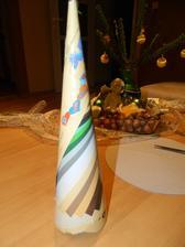 návod na jednoduchý stromček ... kužel z papiera ...