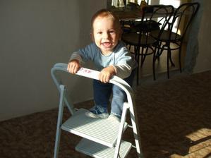 stavebný dozor - vtedy 10-mesačný syn