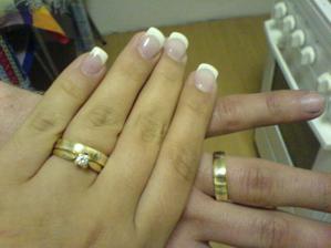 Naše prstýnky. Platili jsme pouze práci Kč 6.130,- Zlato jsme měli svoje...