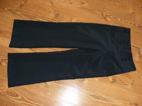 Nenosené tmavomodré nohavice na 9-10 r.  - Obrázok č. 2