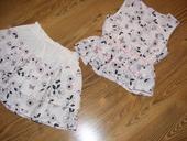 Šaty dievčenské, dvojkombinácia, 128