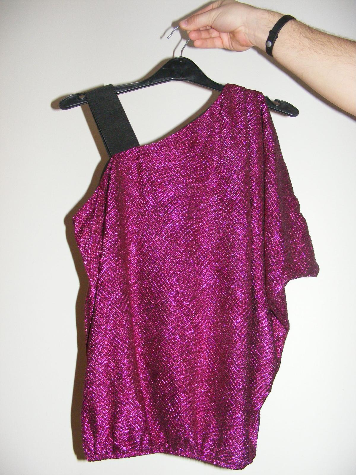 Lesklé elegantné tričko - Obrázok č. 1