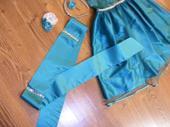 tyrkysovo-zelene šaty pre družičku 134-140, 140