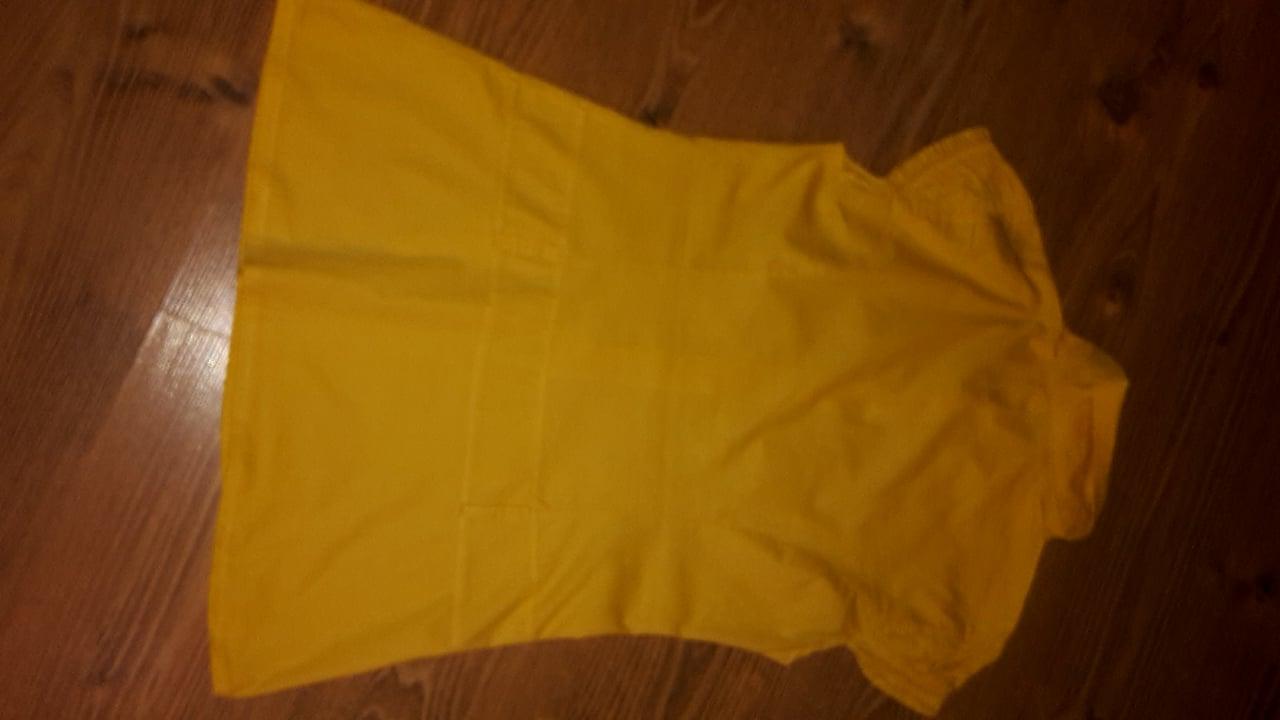 Žltá predĺžená elastická blúzka S/M - Obrázok č. 2